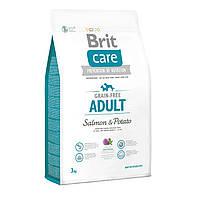 Brit Care Adult Salmon & Potato 3 кг для собак дрібних і середніх порід (лосось)
