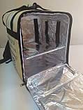 Термосумка для доставки їжі, суші. Рюкзак для піци, нижнє відділення 32*32. Каркасний. ПВХ, фото 4