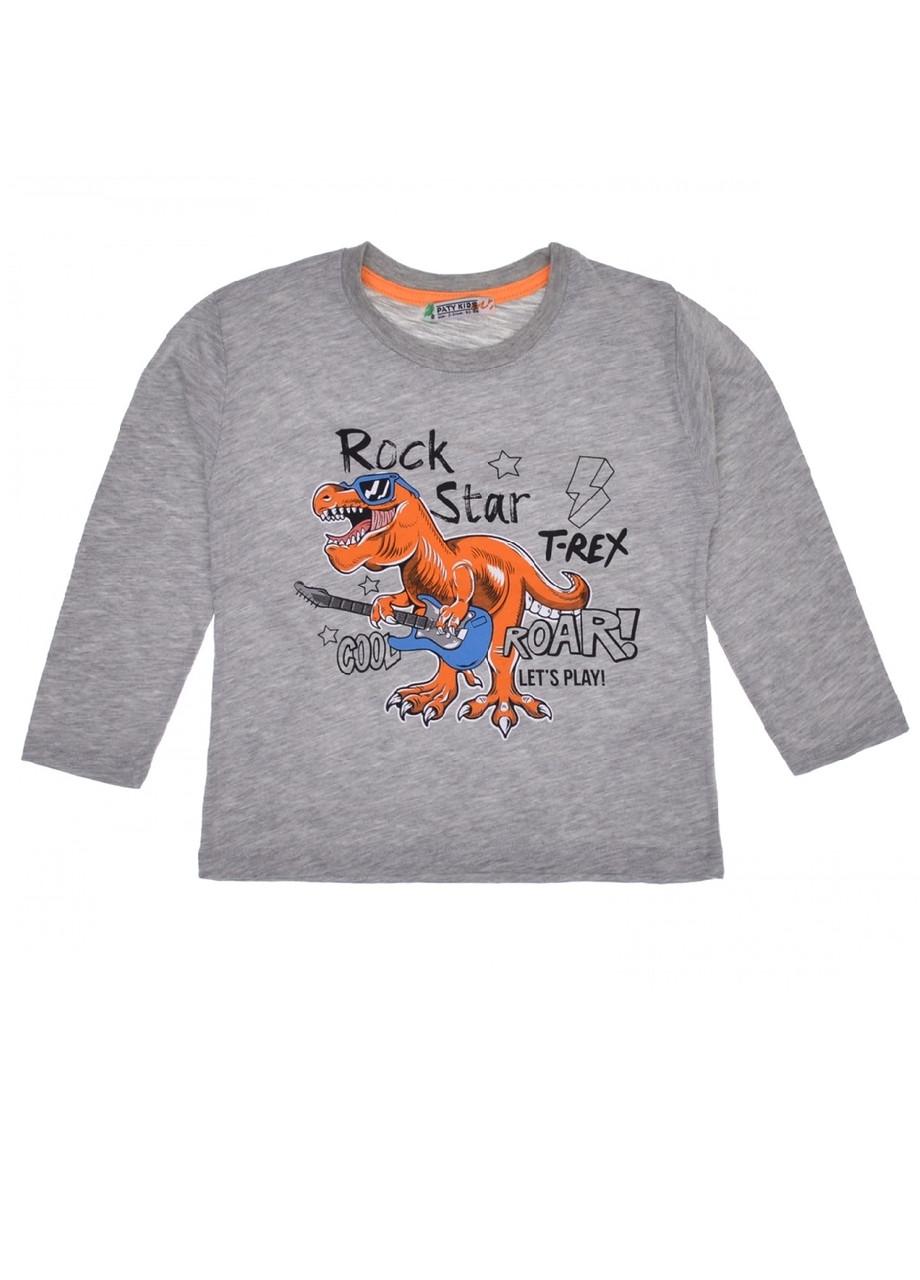 Реглан детский на мальчика модный Динозавр