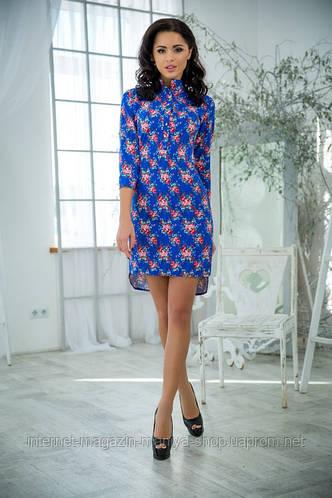 Женское платье джинс 3 расцветки