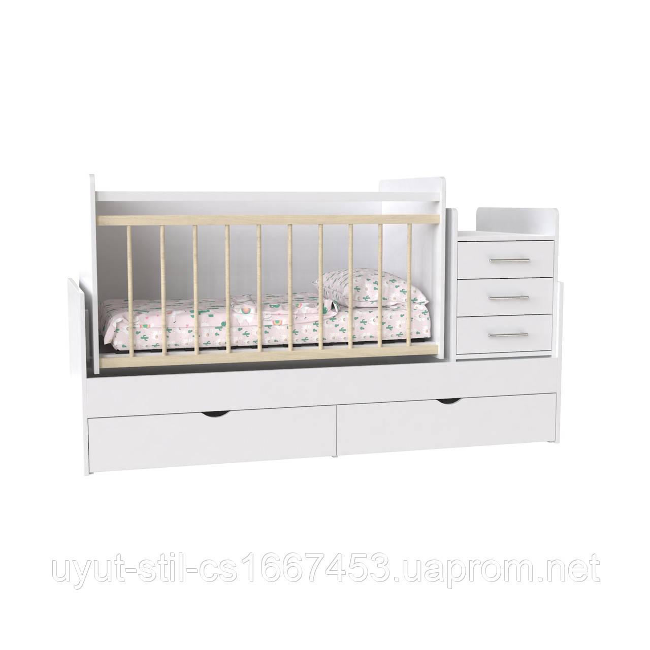 """Ліжечко дитяче для новонародженого """"Binky"""" ДС 039 ( 3 в 1 )"""