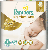 Подгузники Pampers Premium New Born 1, 88шт. (2-5кг)