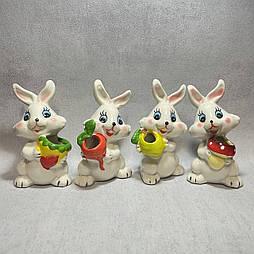 Пасхальные кролики  11.5 см керамика (4 шт в уп)