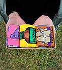 Набор стильных носков мужские женские, подарочный набор коробка, шкарпетки подарунковий набір, фото 2