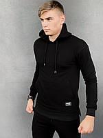 Кофта мужская Intruder 'Spark' черная спортивная толстовка с капюшоном