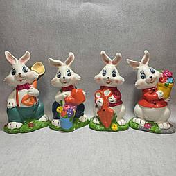 Пасхальные кролики  14 см керамика (4 шт в уп)