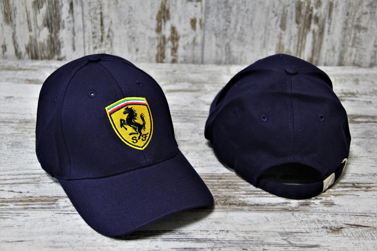 Мужская синяя Кепка Ferrari