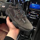 🔥 Кроссовки мужские Adidas Yeezy Boost 500 адидас изи буст черные повседневные спортивные Utility, фото 2