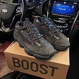 🔥 Кроссовки мужские Adidas Yeezy Boost 500 адидас изи буст черные повседневные спортивные Utility, фото 10