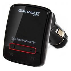 MP3 FM-модулятор Grand-X 79GRX AUX, USB 0.5 A, SD card, 3.5 mm mini-jack Black