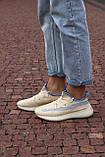 🔥 Кросівки жіночі Adidas Yeezy Boost 350 v2 linen адідас ізі буст бежеві повсякденні спортивні легкі, фото 5