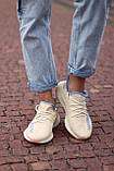 🔥 Кросівки жіночі Adidas Yeezy Boost 350 v2 linen адідас ізі буст бежеві повсякденні спортивні легкі, фото 9