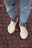 🔥 Кросівки жіночі Adidas Yeezy Boost 350 v2 linen адідас ізі буст бежеві повсякденні спортивні легкі, фото 10
