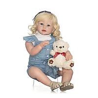 Кукла Реборн девочка Роза силиконовая NPK 70cм