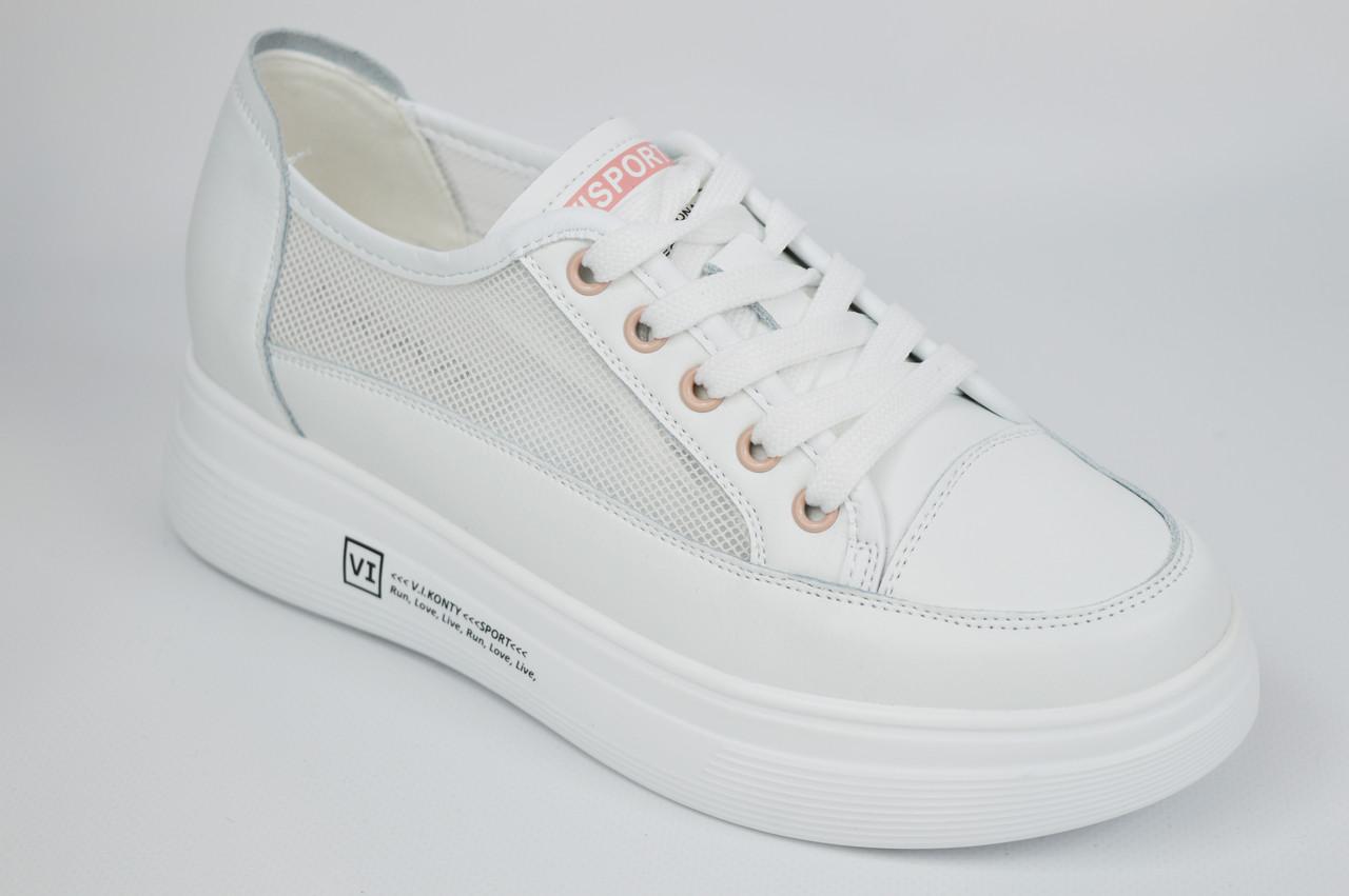 Кроссовки с сеткой женские V.I.konty 20632 36 Белые