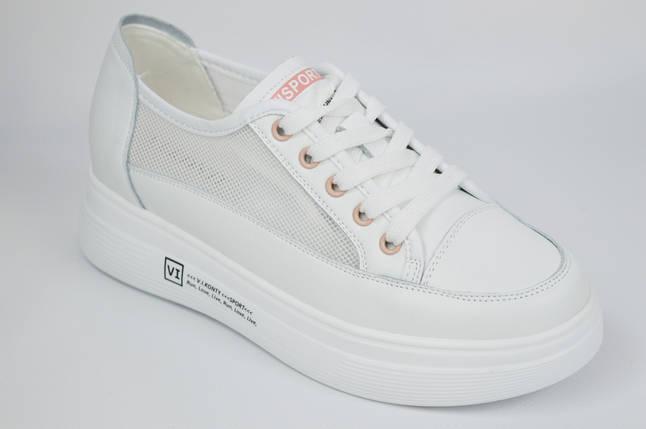 Кроссовки с сеткой женские V.I.konty 20632 36 Белые, фото 2