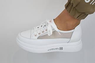 Кроссовки с сеткой женские V.I.konty 20632 36 Белые, фото 3