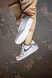 🔥 Кроссовки женские Nike Air Force найк эир форс белые повседневные спортивные кожаные, фото 5