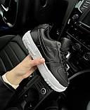 🔥 Кроссовки женские Nike Air Force Pixel найк эир форс пиксель черные повседневные спортивные кожаные, фото 4