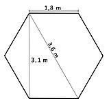 Альтанка шестикутна розкладна 3,6 м / 3 кольори, фото 9