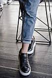 🔥 Кроссовки мужские Alexander McQueen александер макквин черные повседневные спортивные кожаные, фото 8