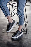 🔥 Кроссовки мужские Alexander McQueen александер макквин черные повседневные спортивные кожаные, фото 6