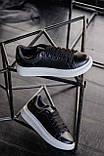 🔥 Кроссовки мужские Alexander McQueen александер макквин черные повседневные спортивные кожаные, фото 5