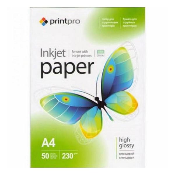 Бумага A4 50л 230 г/м2 PGE230050A4 PrintPro