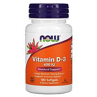 Now Foods - Vitamin D-3 400 IU - 180 caps