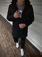 Демисезонная мужская куртка черная