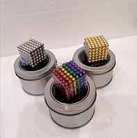 Неокуб. Магнитные шарики. Размер 5 мм, 216 шт в кейсе. Разные цвета.