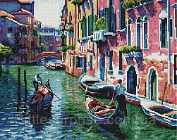 Алмазная мозаика 40*50 см По каналам Венеции