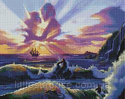 Алмазная мозаика 40*50 см Влюблённые и море