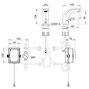 Смеситель для умывальника сенсорный Imprese Krok SE (05500), фото 2