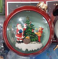"""Новогодний декор лампа - """"Ёлочная игрушка"""" со снегом Snow Globe №33"""