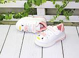 Модні білі кросівки для дівчаток, фото 4