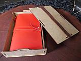 Кожаный блокнот,  в подарочной упаковке, фото 3