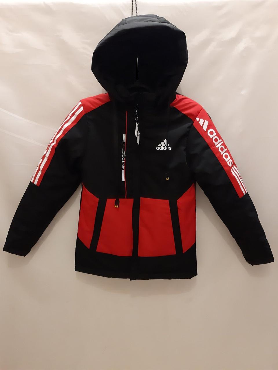 Подростковая куртка для мальчика Adidas р. 11-15 лет опт