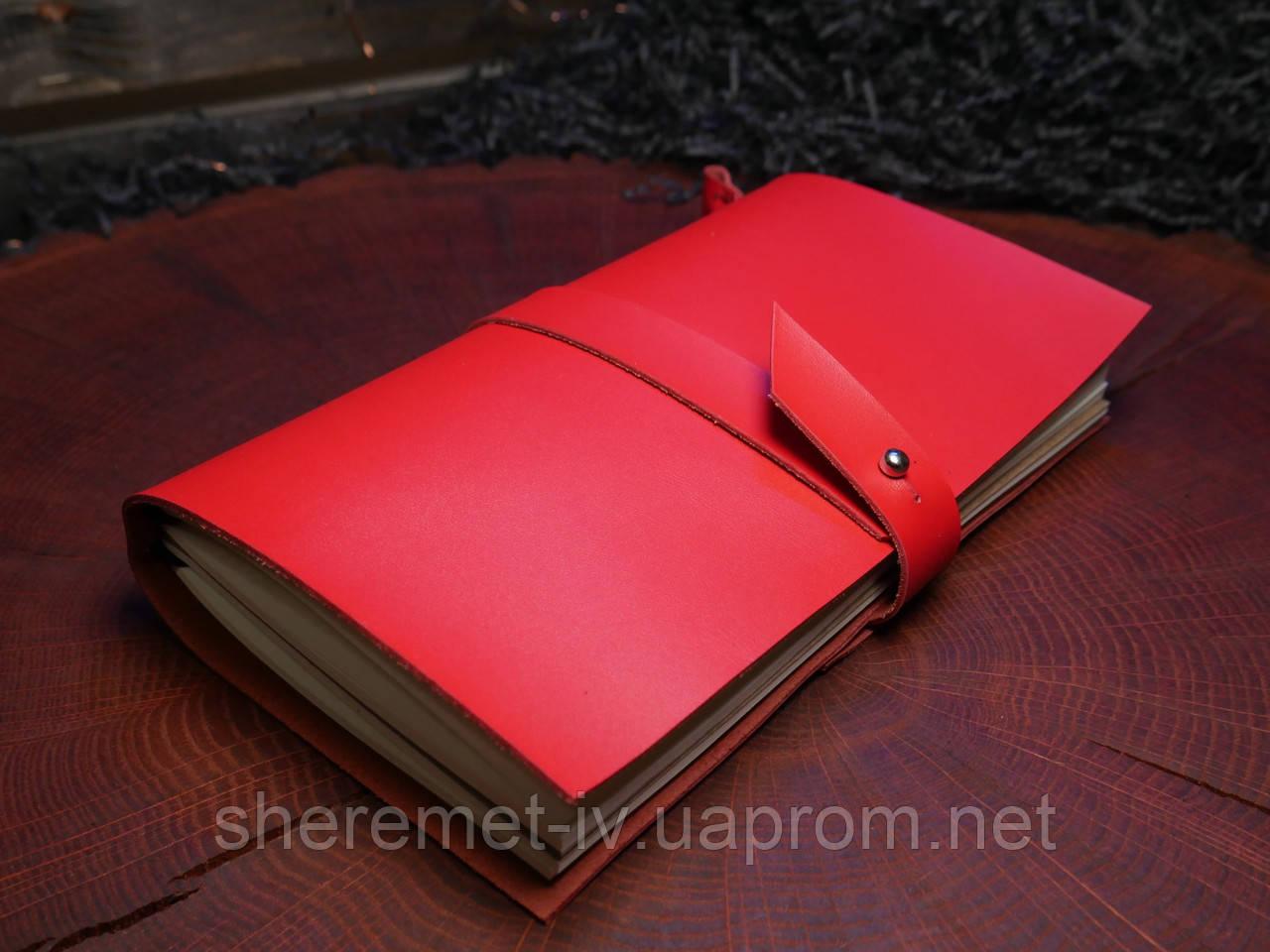 Кожаный блокнот,  в подарочной упаковке