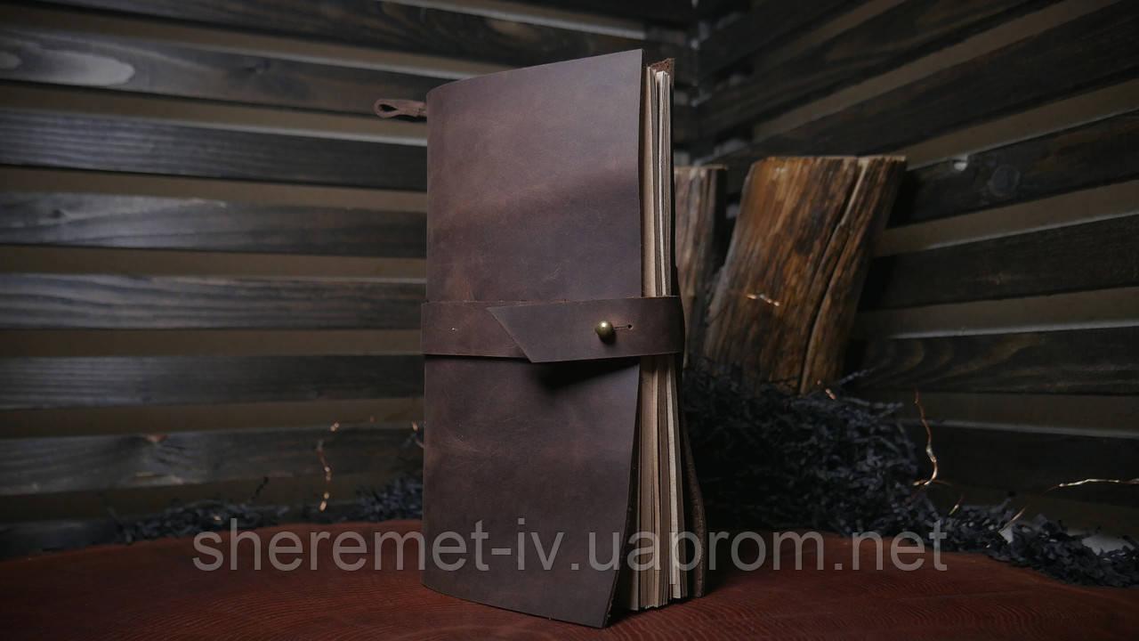 Кожаный блокнот + подарочная упаковка