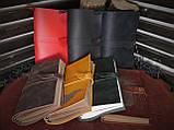 Кожаный блокнот чёрный, фото 6