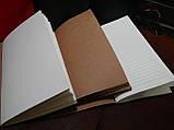 Кожаный блокнот чёрный, фото 5