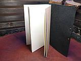 Кожаный блокнот чёрный, фото 2