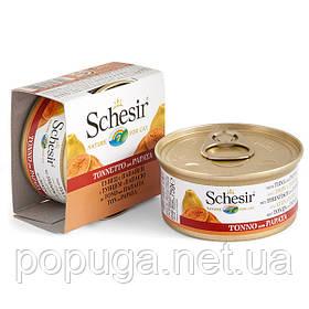 Schesir Tuna Papaya консерви для кішок, тунець з папайєю в желе, банку 75 г