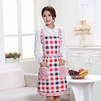 Фартух для кухні жіночий з кишенями, водонепроникний, захист від жиру