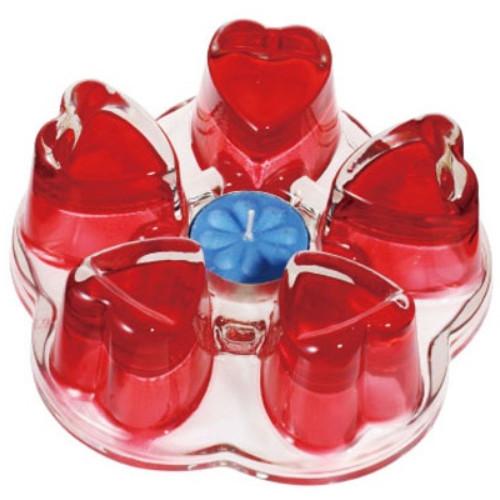 Підставка Червоне серце для підігріву чайника