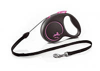 Flexi (Флекси) Рулетка поводок Design S pink/розовая, трос 5м до 12кг