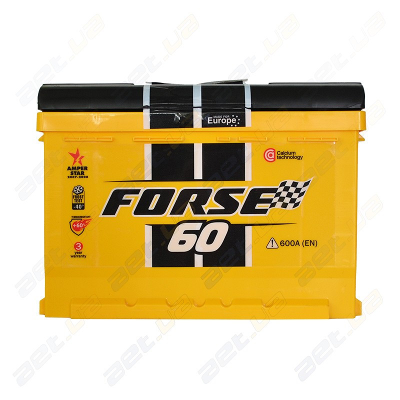 Аккумулятор автомобильный Forse 60Ah R+ 600A (низкобазовый)
