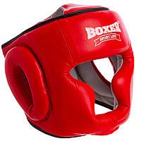 Шолом боксерський шкіряний червоний BOXER 2033, фото 1