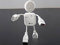 USB Hub (разветвитель) Человечек 4 порта_1004